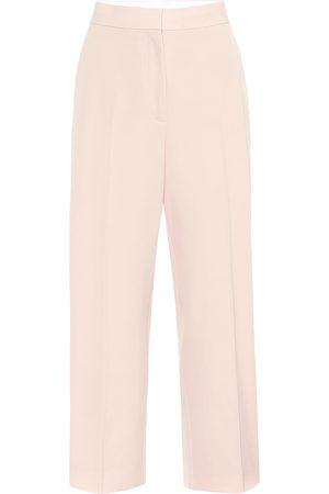 Stella McCartney Pantalones rectos de lana tiro alto