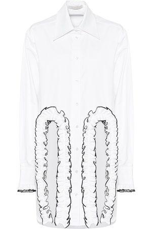 Christopher Kane Camisa de popelín de algodón