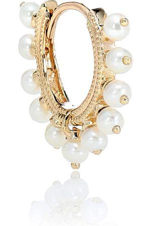Maria Tash Arete único Eternity de oro de 14 ct y perlas