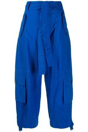 Colville Pantalones capri con cintura lazada