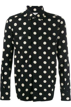 Saint Laurent Camisa slim estilo western con motivo de lunares
