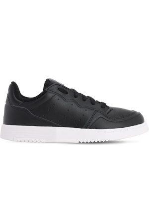 adidas Niño Zapatillas deportivas - | Niño Sneakers De Piel Con Cordones 33