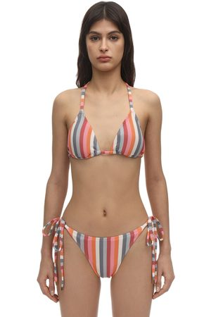 Peony Rainbow Triangle Bikini Top