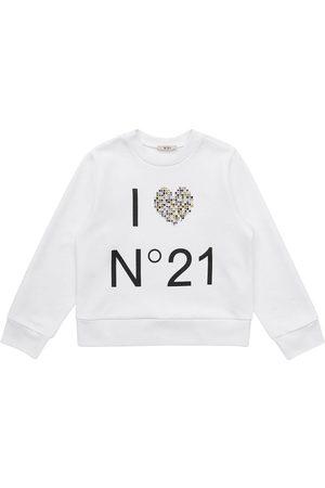 Nº21 | Niña Sudadera De Algodón Con Logo Estampado 8a