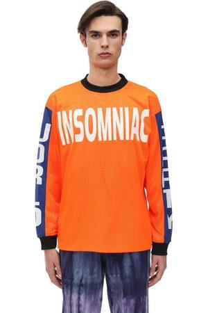 INSOMNIAC | Hombre Camiseta De Algodón Jersey Con Mangas Largas S