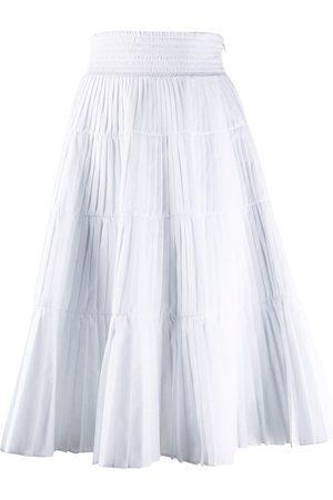 Prada Falda plisada con capas escalonadas