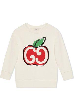 Gucci Sudadera con estampado de manzanas GG