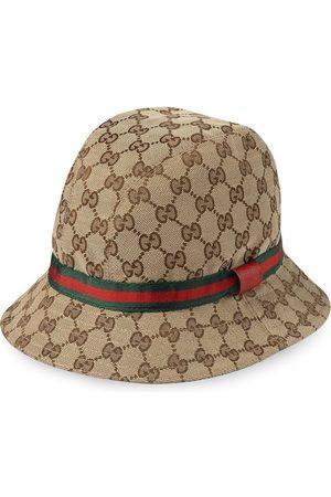 Gucci Kids Sombreros - Sombrero fedora con logo GG