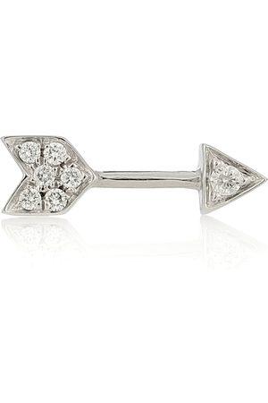 Maria Tash Arete único Diamond Arrow de 10 mm de oro blanco de 18 ct