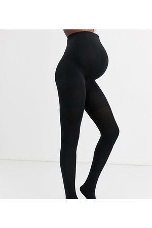 Spanx Medias moldeadoras negras tupidas de 60 deniers Mama de Maternity-Negro