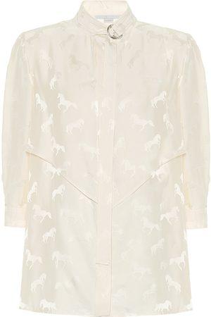 Stella McCartney Blusa de jacquard en mezcla de seda