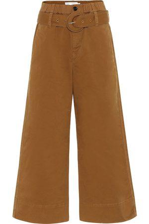 PROENZA SCHOULER WHITE LABEL Pantalones anchos de tiro alto