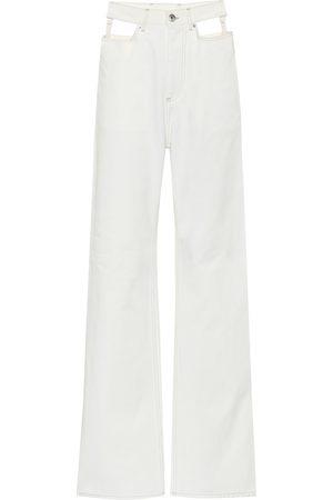 Maison Margiela Jeans anchos de tiro alto