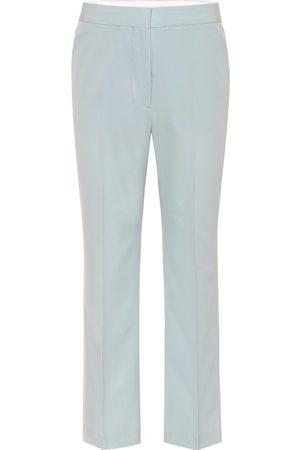 Stella McCartney Pantalones rectos de algodón
