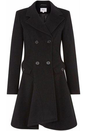 De la creme Abrigo Abrigo de invierno de lana cruzado de invierno para mujer