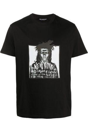 Neil Barrett Camiseta con cuello redondo New Noise