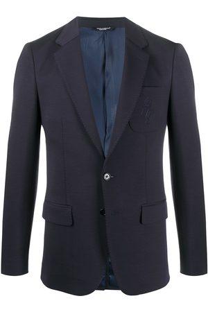 Dolce & Gabbana Blazer con botones y logo bordado