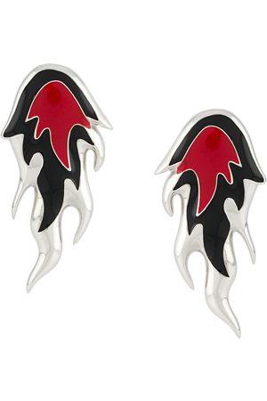 AMBUSH Flame enamel earring