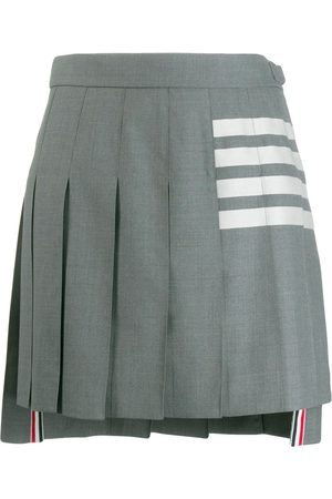 Thom Browne Mujer Minifaldas - Minifalda plisada con detalle de rayas