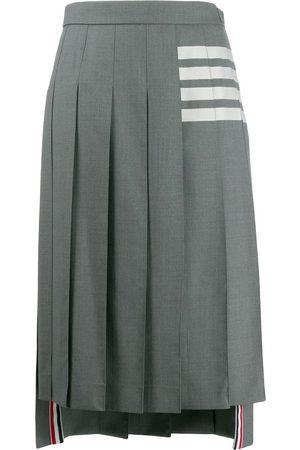 Thom Browne Mujer Plisadas - Falda plisada con detalle de rayas
