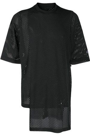 RICK OWENS CHAMPION X Champion asymmetric T-shirt