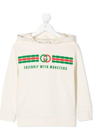 Gucci Kids Sudaderas - Logo print hoodie