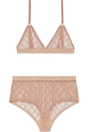 Gucci Set de lencería con tul y motivo GG