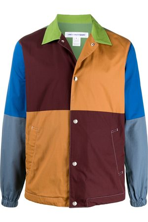 Comme des Garçons Color blocked press stud shirt jacket