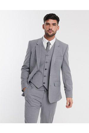 ASOS DESIGN Chaqueta de traje de corte slim en gris medio de