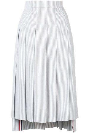 Thom Browne Mujer Midi - Falda midi plisada a rayas