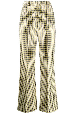 Victoria Beckham Mujer Pantalones de talle alto - Pantalones acampanados de talle alto