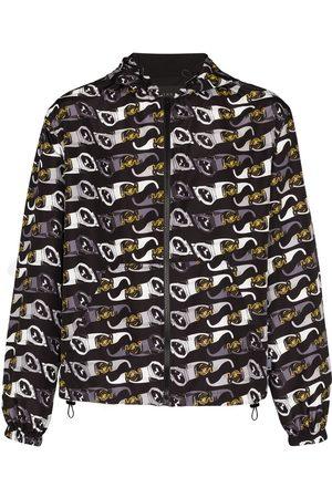 Versace Sunglasses print hooded jacket