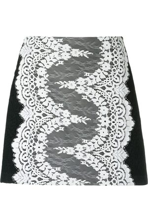 Olympiah Lace panelled skirt