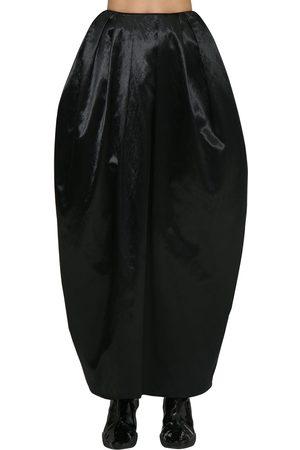Marine Serre | Mujer Falda Maxi Abullonada De Satén Con Cintura Alta S
