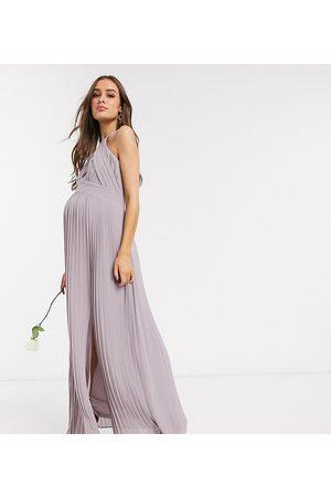 TFNC Vestido largo de dama de honor plisado en exclusivo de