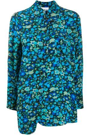 Ganni Mujer Asimétricos - Vestido asimétrico con estampado floral