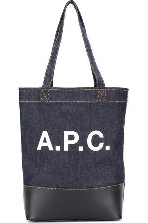 A.P.C Bolso shopper vaquero con logo estampado