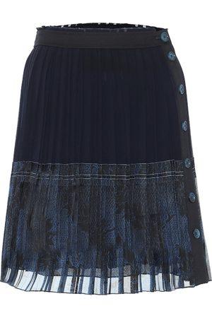 Chloé Minifalda de seda plisada