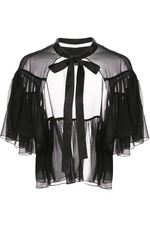Kiki de Montparnasse Vestido con capa y cuello con lazo