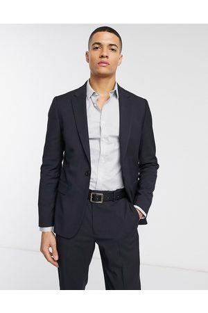 ASOS Chaqueta de traje ajustado en azul marino de