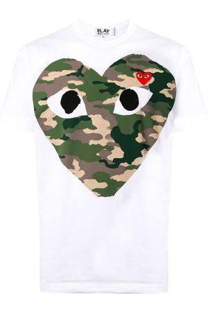 Comme des Garçons Camiseta con corazón y motivo militar