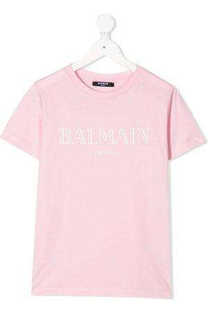 Balmain Camiseta con logo estampado