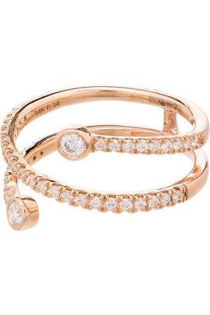 Dana Rebecca Designs Anillo en oro rosa de 14kt con diamantes en pavé