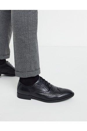 ASOS Zapatos Oxford de cuero sintético negro de
