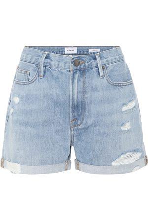 Frame Shorts de jeans Le Beau desgastados