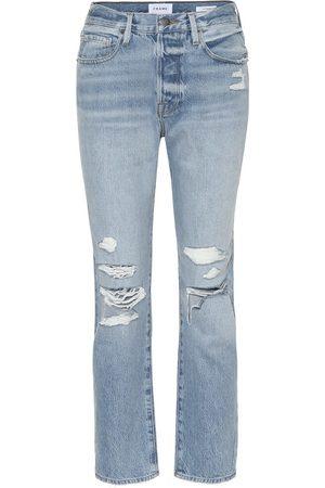Frame Jeans ajustados desgastados