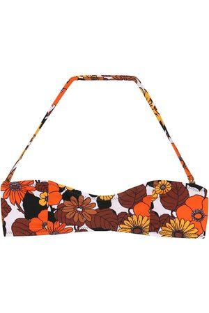 DODO BAR OR Top de bikini floral cuello halter