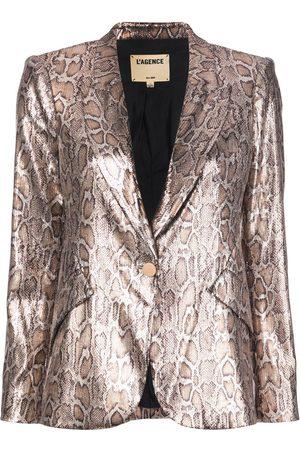 L'Agence Mujer Blazers - Blazer con motivo de leopardo y lentejuelas