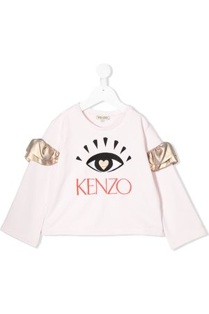 Kenzo Ruffled sleeve eye embroidered sweatshirt