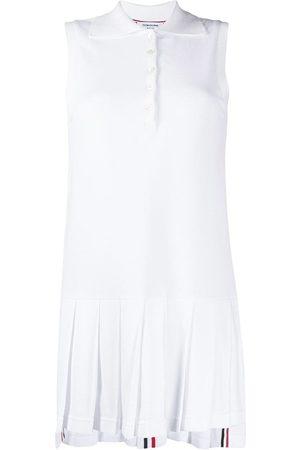 Thom Browne Vestido Tennis con pliegues
